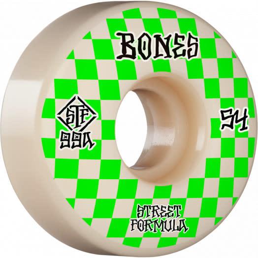 Bones Bones STF Skateboard Wheels Patterns V3 Slims 54mm 99A