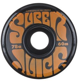 OJ Wheels OJ Super Juice Wheels Black 60mm 78a (set of 4)