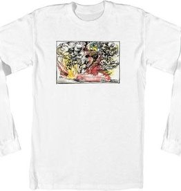 Spitfire Wheels Krooked Fired Up Long Sleeve T-Shirt - White