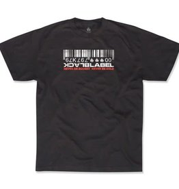 Black Label Black Label Barcode T-shirt - Black
