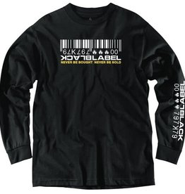 Black Label Black Label Bar code LS T-shirt - Black