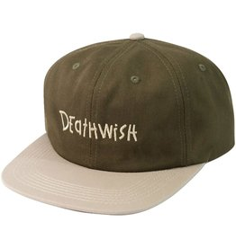 Death Wish Deathwish Skateboards Spaz Olive Snapback Hat