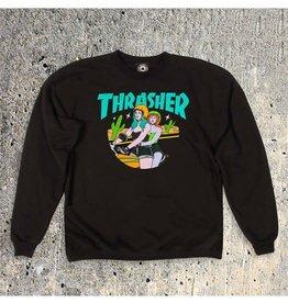 Thrasher Thrasher Babes Crewneck Sweatshirt -Black