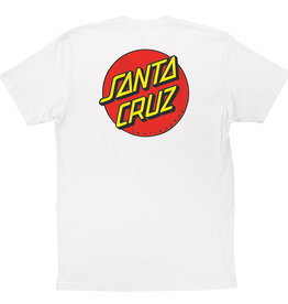 Santa Cruz Santa Cruz Classic Dot Chest S/S Mens T-Shirt - White -