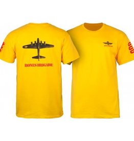 Powell Peralta Powell Peralta Bones Brigade Bomber T-shirt - Gold