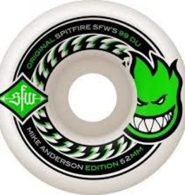 Spitfire Wheels Spitfire Wheels Anderson SFW 2 Wides - 52mm (Set of 4)