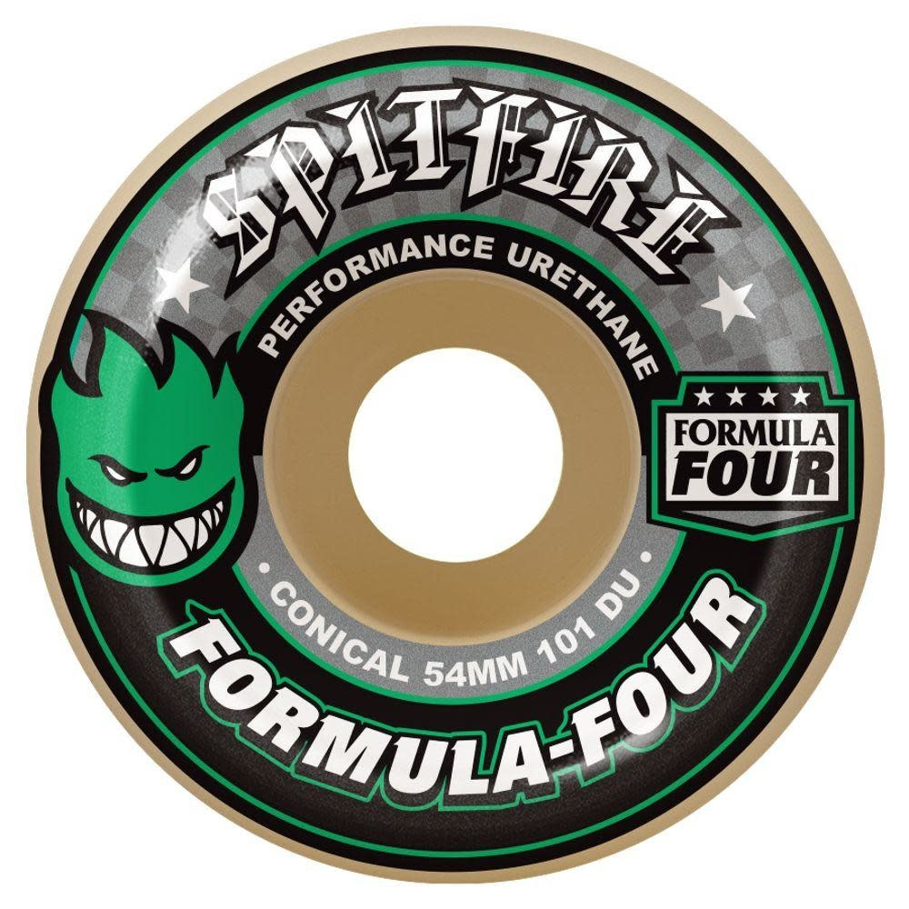 Spitfire Wheels Spitfire Wheels - 54mm 101a - Formula Four Conical - Green