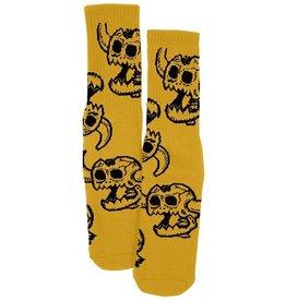 Toy Machine Toy Machine Monster Skull Crew Socks - One Size - Mustard