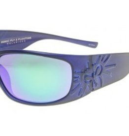 Black Flys Black Flys Sonic Fly 2 Floating Polarized Sunglasses - Matte Blue W/ Smoke Lens