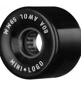 Mini Logo Mini Logo AWOL Wheels 59mm 80A- Black (set of 4)