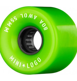 Mini Logo Mini Logo AWOL Wheels 55mm 80A- Green (set of 4)