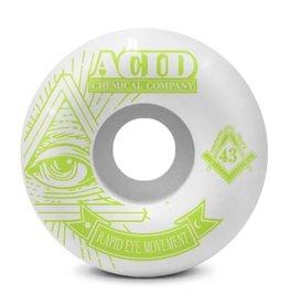 Acid Chemical Co. Acid Chemical Co. REM Pyramid Wheels 58mm 99a - White (Set of 4)