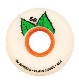 OJ Wheels OJ Wheels Plain Jane Keyframe Wheels White 56mm 87a (Set of 4)