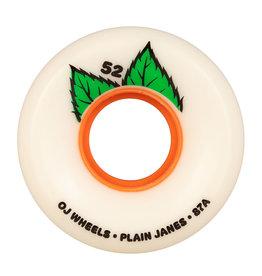 OJ Wheels OJ Wheels Plain Jane Keyframe Wheels White 52mm (Set of 4)