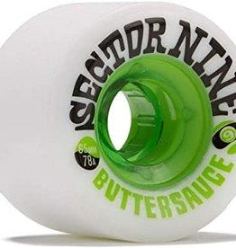Sector Nine Skateboards Sector 9 Wheels Butter Sauce 65mm 78a (Set of 4) - White