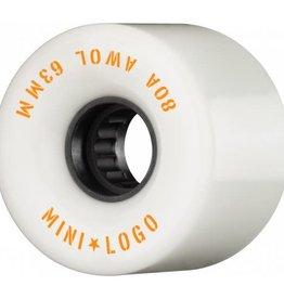 Mini Logo Mini Logo AWOL Wheels 63mm 80A- White (set of 4)