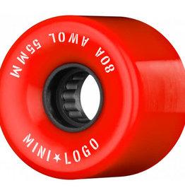 Mini Logo Mini Logo AWOL Wheels 55mm 80A- Red (set of 4)