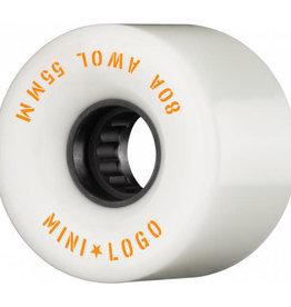 Mini Logo Mini Logo AWOL Wheels 55mm 80A- White (set of 4)
