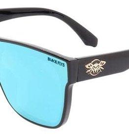 Black Flys Black Flys Mono Fly Sunglasses - Shiny Black W/ Blue Lens