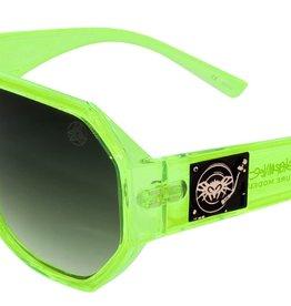 Black Flys Black Flys Mixmaster (Mike Ltd) Sunglasses - Neon Green w/ Smoke Lens