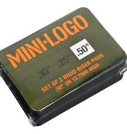 """Mini-Logo Mini Logo Skateboards Risers Black .50"""""""