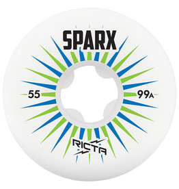 Ricta Ricta Sparx Wheels White 55mm 99a (Set of 4)