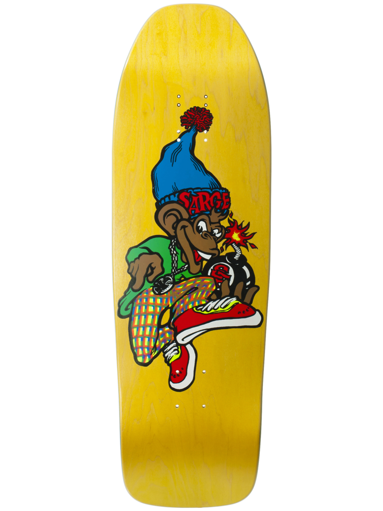 "New Deal New Deal Sargent Monkey Bomber SP Deck - Yellow - 9.625"" x 31"""