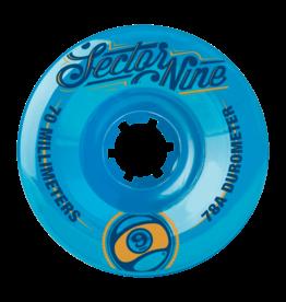Sector Nine Skateboards Sector 9 Skateboards 9 Balls Wheels Blue 70mm 78a (Set of 4)