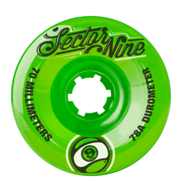 Sector Nine Skateboards Sector 9 Skateboards 9 Balls Wheels Green 70mm 78a (Set of 4)
