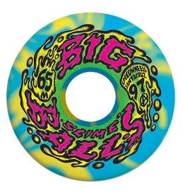 Santa Cruz Skateboards Santa Cruz - Slime Balls Big Balls Wheels Blue Yellow Swirl 65mm 97a (set of 4)