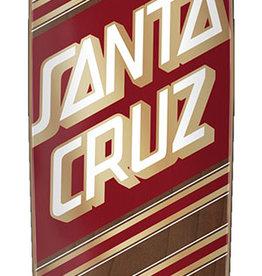 """Santa Cruz Skateboards Santa Cruz Street Skate Cruzer 8.4"""" x 29.4"""" - Red / Gold"""