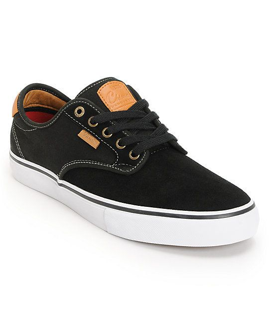 fb487d3d86 Vans Vans Off The Wall Chima Ferguson Pro Kid s Skate Shoes - Black Tan  ...