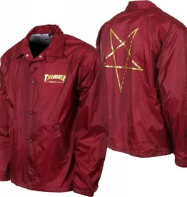 Thrasher Thrasher Pentagram Coach Jacket - Maroon