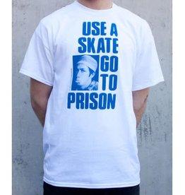 Thrasher Thrasher Use A Skate Go To Prison T-Shirt - White