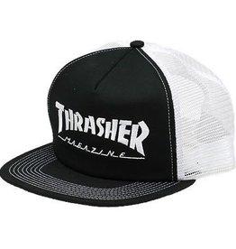 Thrasher Thrasher Logo Embroidered Mesh Cap - Black/White