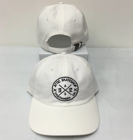 cf5c35b8f4405 ATTIC ATTIC Dad Hat slider strapback adjustable in WHITE