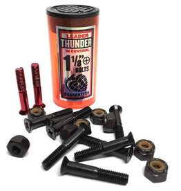 "Thunder Trucks Thunder Bolts Hardware 1 1/8"" Black/Red Phillips"