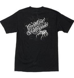 Santa Cruz Skateboards Creature Web Horde Regular S/S T-Shirt - Black