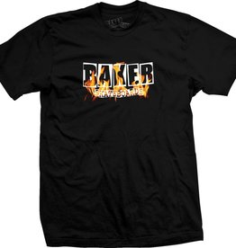 Baker Baker Burning Logo T-shirt - Black
