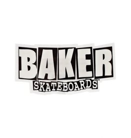 "Baker Baker Brand logo Sticker 8.5"" X 4.5"" Large  - Black/White"