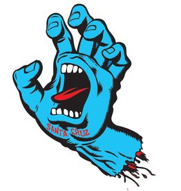 "Santa Cruz Skateboards Santa Cruz 3"" Screaming Hand Sticker - Blue/Red"
