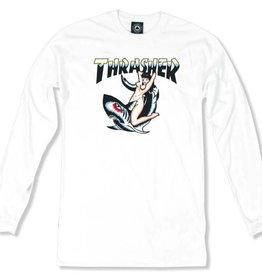 Thrasher Thrasher Tattoo L/S T-Shirt - White