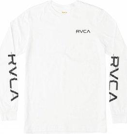 RVCA RVCA Glitch L/S T-Shirt - White