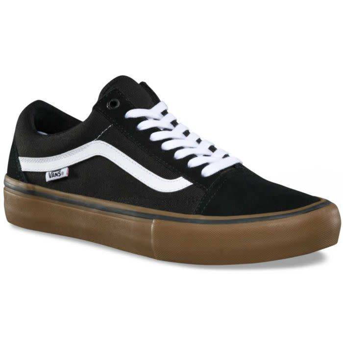 7436b28edb8 Vans Old Skool Pro Skate Shoes - Black White Gum - Attic Skate ...