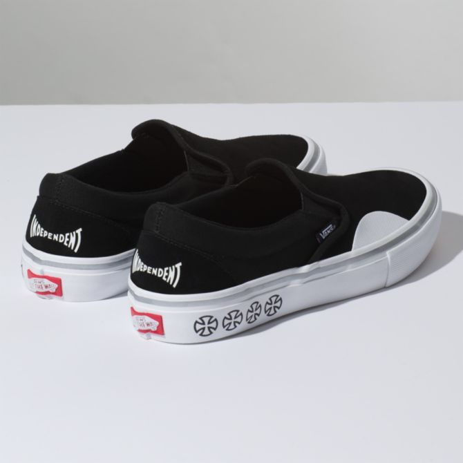 4e03548f765f57 Vans Vans x Independent Slip-On Pro Skate Shoes - Black - Attic ...