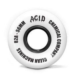 Acid Chemical Co. Acid Chemical Co. Clean Machine Wheels 56mm 82a White (Set of 4)
