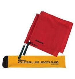 Mikasa Volleyball Line Judges Premium Flags - Set of 2
