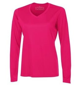 Authentic T-Shirt Company Pro Team Long Sleeve Tee, V-Neck - Ladies Sizes