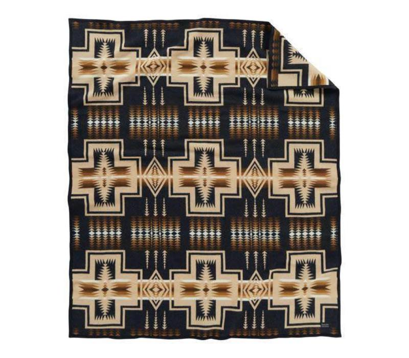 Harding Oxford Robe - Black