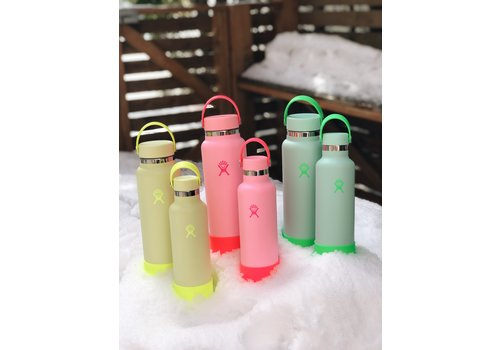 Hydro Flask 40 oz Wide Flex Cap And Boot Neon